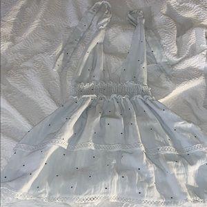 Revolve white polka dot dress!